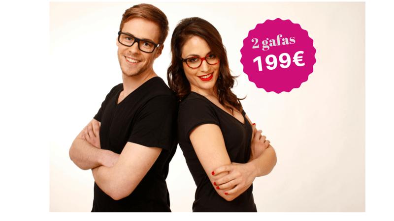 pareja con gafas graduadas de A óptica de Ana