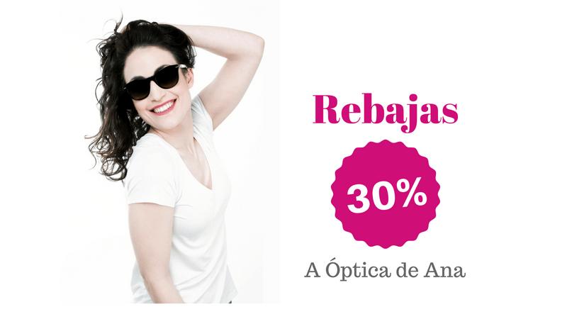 Rebajas en gafas de sol, 30% descuento